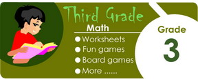 3rd grade math worksheets, games, tests, quizzes, board games, card games
