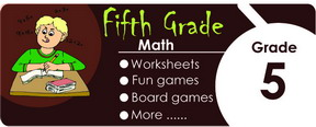 5th grade math worksheets, games, tests, quizzes, board games, card games