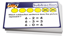 1st grade subtraction card games for children in grade 1. PDF printable
