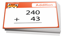 2nd grade addition card game - Math card game in PDF printable format