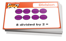 3rd grade division cards - For math card games and math board games on third grade math