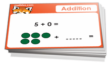Preschool addition cards for math card games and math board games - PDF