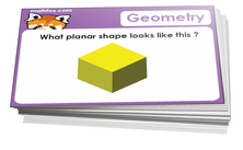 Kindergarten shapes and geometry cards for math card games and math board games - PDF