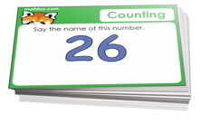 Preschool cards for learning how to count - for math card games and math board games - PDF