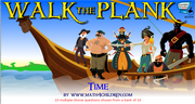 Fractions walk the plank game