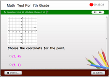 7th Grade Math End of Level Test