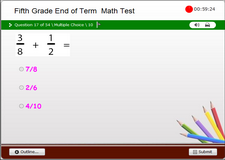5th Grade Math End of Level Test