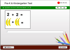 Preschool and Kindergarten Math End of Grade Test