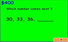 2nd grade skip counting and numbers exercises - millionaire Jeopardy PPT game