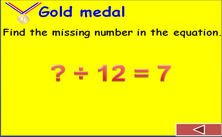 4th grade division PPT game - Olympic jeopardy math PowerPoint classroom Game