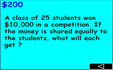 5th grade division PPT game - Millionaire jeopardy PowerPoint math classroom game