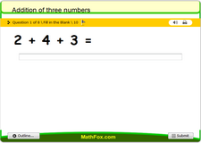 Addition of three numbers