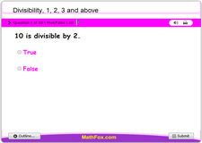Divisibility 1 2 3 and above