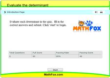 Evaluate the determinant