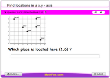 Find locations in a xy axis