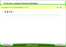 Find the lowest common multiple