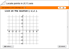 Locate points in xy axis