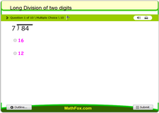 Long division of two digits