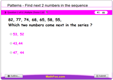 Patterns find next 2 numbers in the sequence