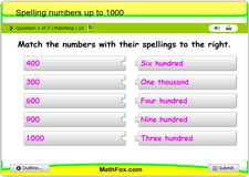 Spelling numbers up to 1000