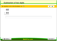 Subtraction of two digits