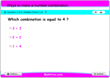 Ways to make a number combination