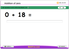 Addition of zero to numbers