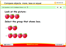 Compare objects more less or equal