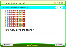Count dots up to 100