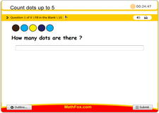 Count dots up to 5
