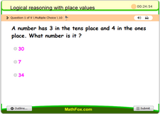 Logical reasoning with place values