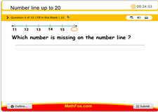 Number line up to 20