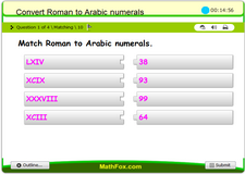 Roman to arabic numerals