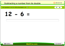 Subtracting a number from its double