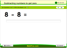 Subtracting numbers to get zero