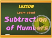 Subtraction of Numbers video