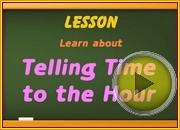 Telling Time to Hour video