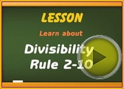 Divisibility Rule 2 10 video