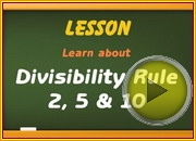 Divisibility Rule 2 5 10 video
