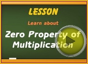 Zero Property Multiplication video