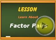Factor Pairs video