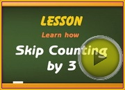 Skip Counting by3 video