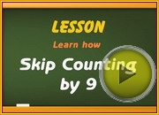 Skip Counting by9 video