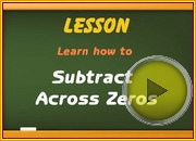 Subtracting Across Zeros video