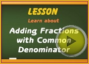 Adding Fractions Common Denominator video