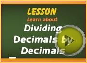 Dividing Decimals by Decimals video