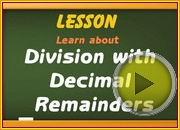 Division with Decimal Remainders video