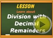 Division with Decimal Remainders video