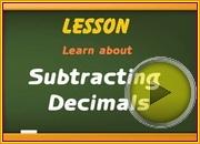 Subtracting Decimals video