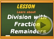 Division with Fraction Remainders video